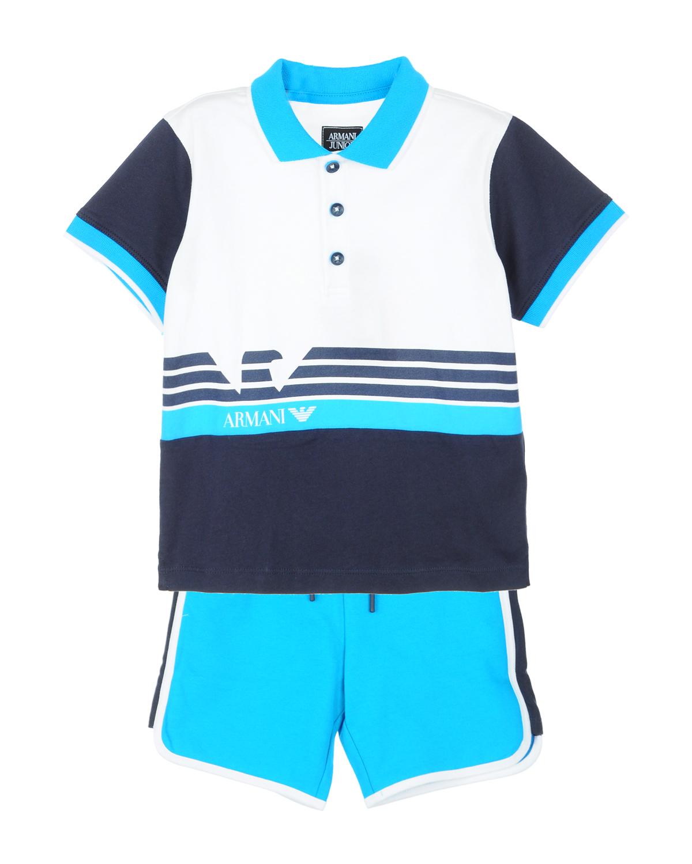 Купить Хлопковый комплект из футболки и шорт, Emporio Armani