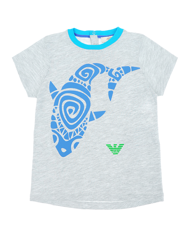 Купить со скидкой Серая футболка с принтом