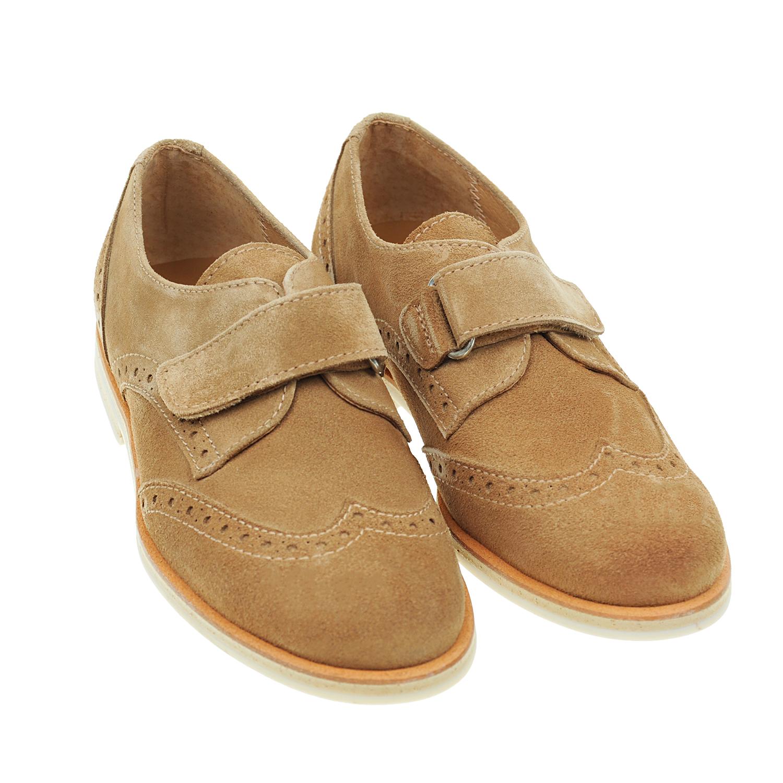 Замшевые туфли на липучкеТуфли<br><br>