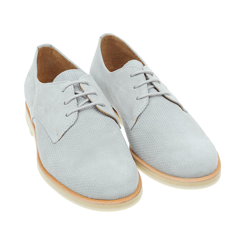 Замшевые туфли с тиснением