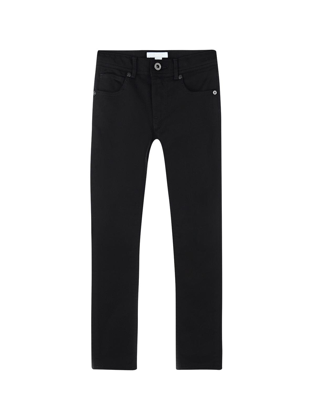 Джинсы skinnyДжинсы<br>Черные джинсовые брюки Burberry из стрейч-хлопка. Модель skinny, с классическими пятью карманами. Джинсы декорированы накладкой с логотипом на поясе.