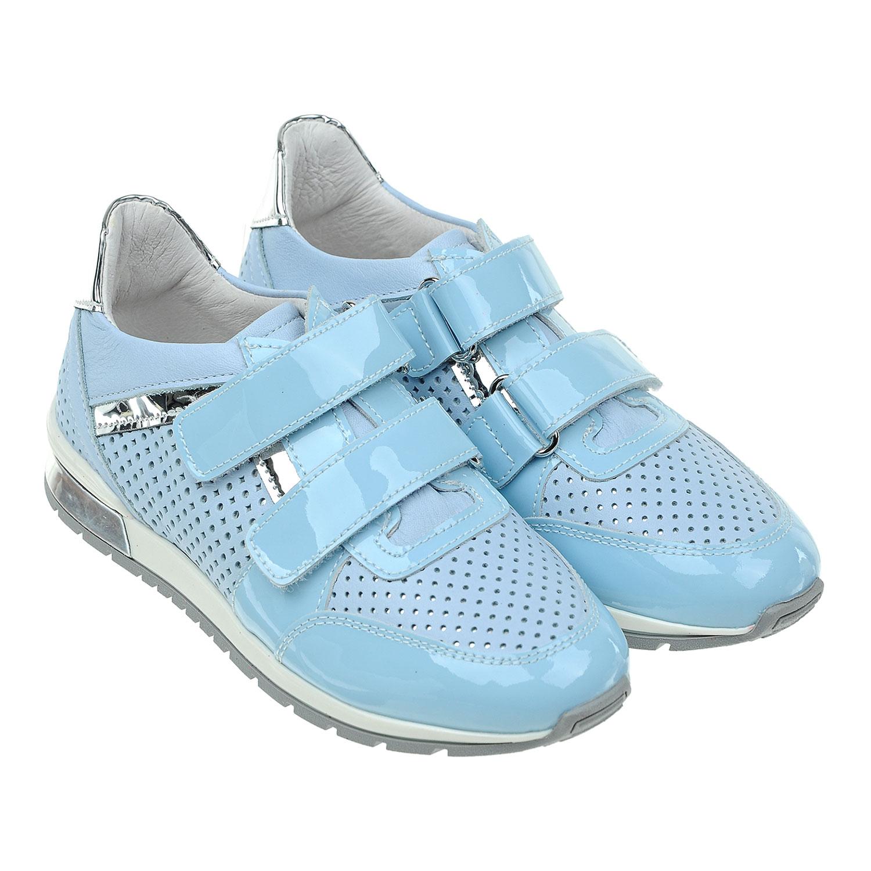 Кожаные кроссовки с перфорациейКроссовки<br><br>