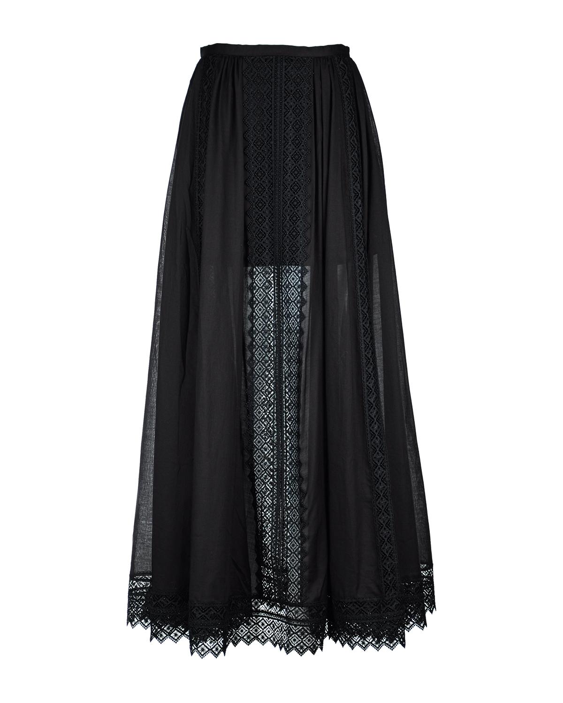 Длинная юбка с кружевной отделкой Charo Ruiz