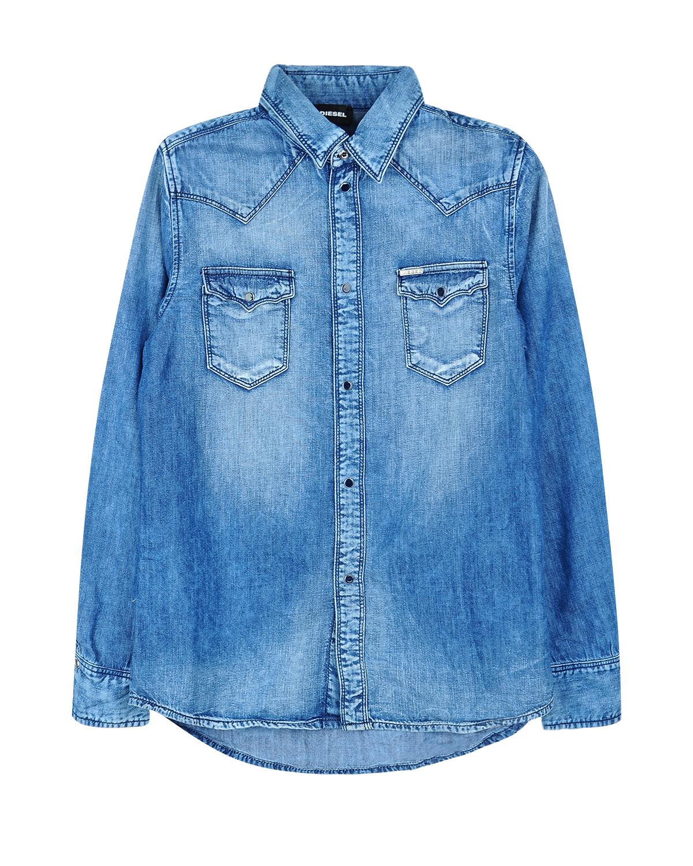 Купить Джинсовая рубашка с длинными рукавами, Diesel