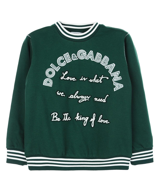 Купить Хлопковый свитшот с аппликациями, Dolce&Gabbana