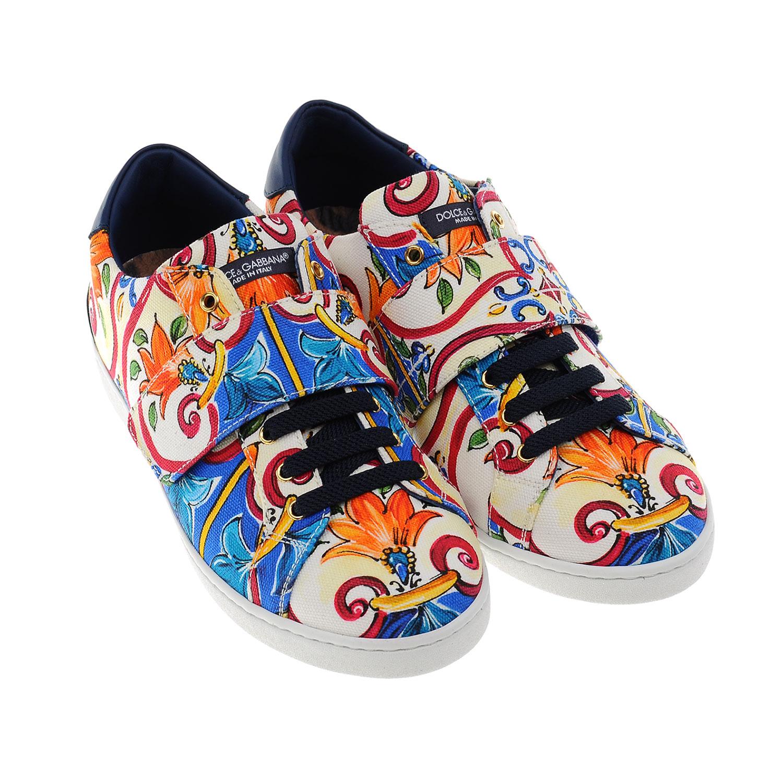 Купить Кеды на липучках с принтом Mondello, Dolce&Gabbana
