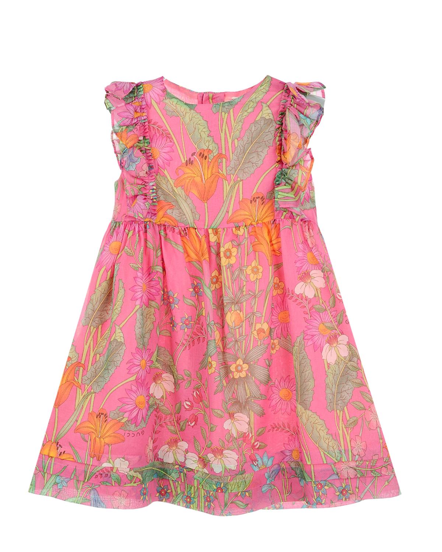 Купить Платье с цветочным принтом, GUCCI