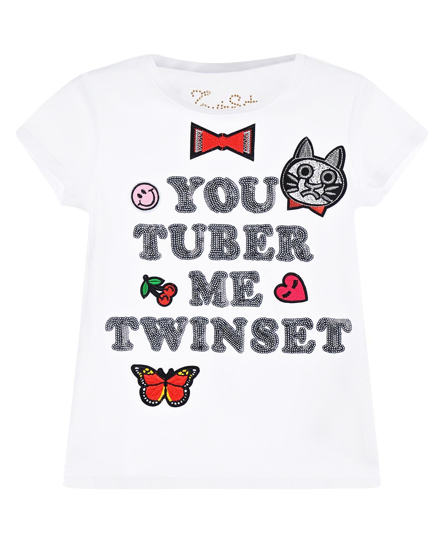 футболка twin set для девочки