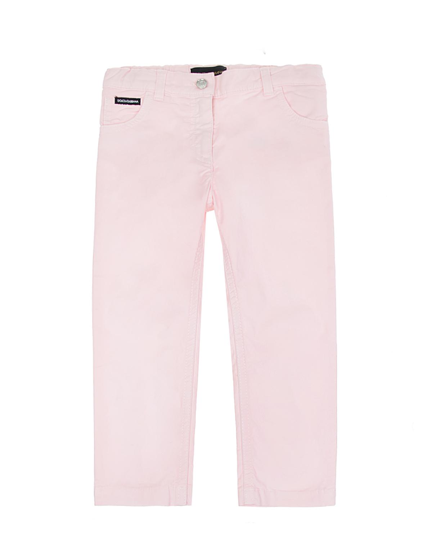 Купить Розовые брюки из плотного поплина, Dolce&Gabbana
