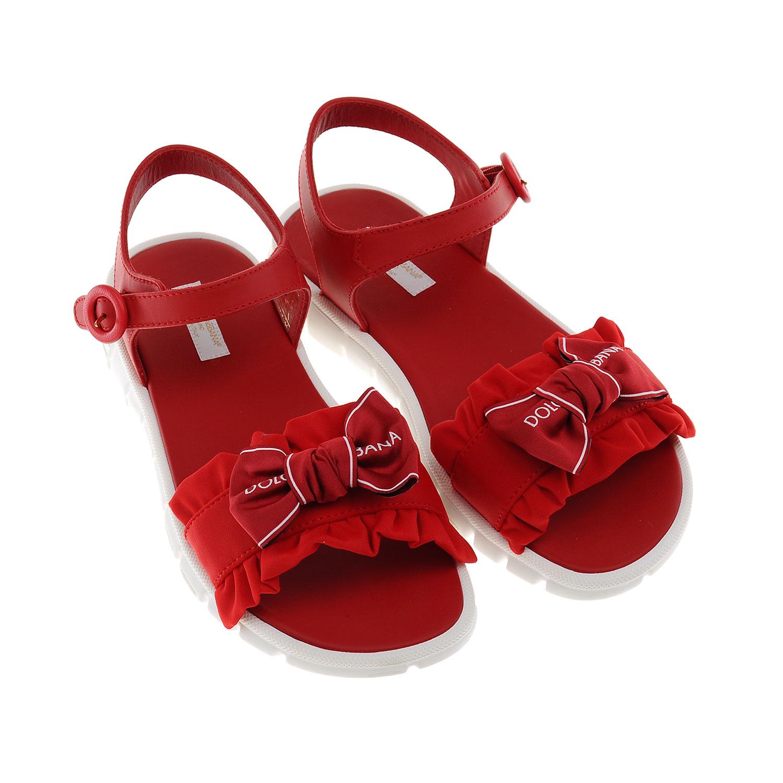 Купить Кожаные босоножки с бантом, Dolce&Gabbana