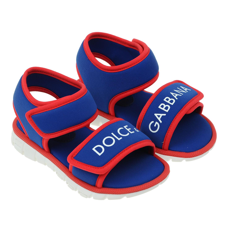 Купить Текстильные сандалии на липучках, Dolce&Gabbana