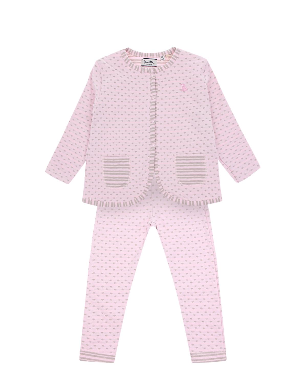 Купить Розовый трикотажный комплект Sanetta fiftyseven детский, 100%хлопок