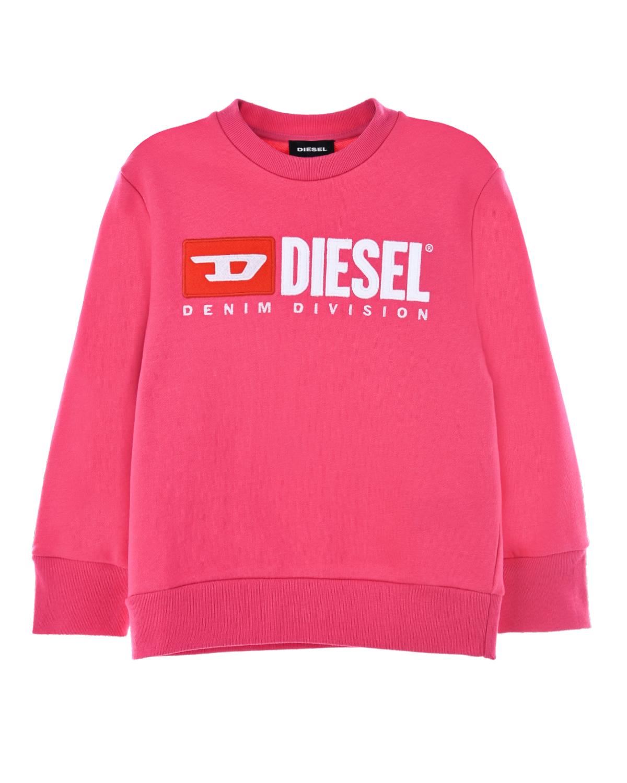 Свитшот из хлопка с логотипом Diesel детский фото