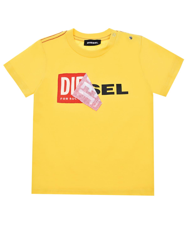 Купить Футболка из хлопка с логотипом Diesel
