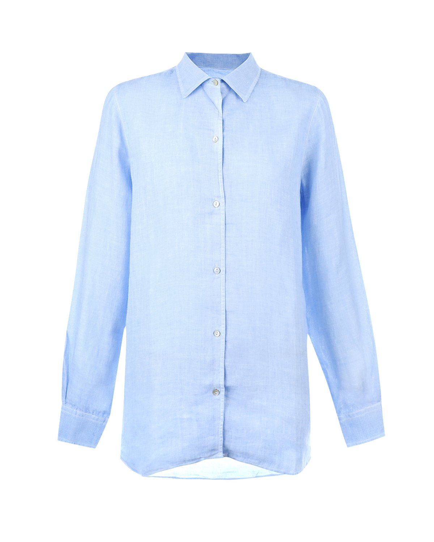 Рубашка прямого кроя 120% Lino фото