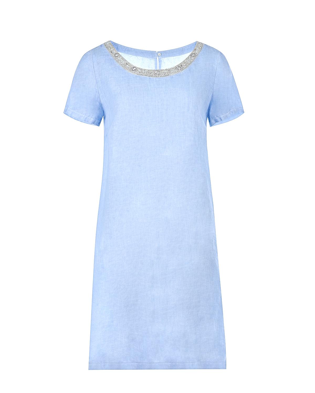 Платье-миди с короткими рукавами 120% Lino фото