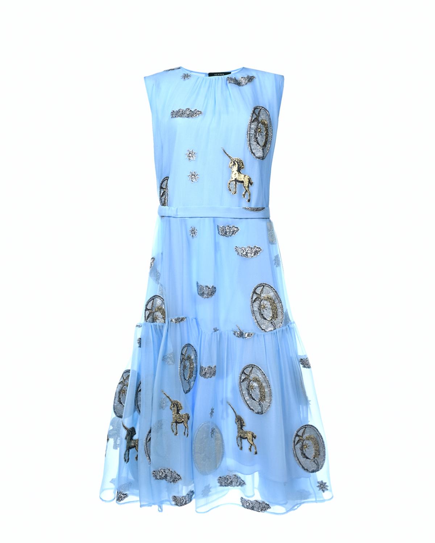"Платье с вышивкой ""Единороги"" Alena Akhmadullina фото"