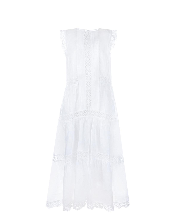 Купить Макси-платье с кружевными вставками Alberta Ferretti