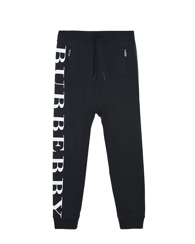 Купить Спортивные брюки с принтом Burberry детские, Черный, 100%хлопок