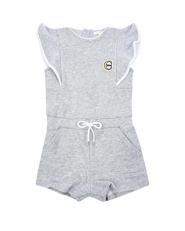 Купить Комбинезон с воланами Chloe детский, Серый, 20%полиэстер+80%хлопок, 100%хлопок