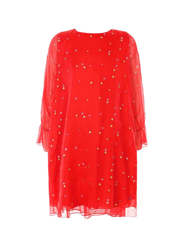 Купить Шелковое платье свободного кроя Dior детское, Красный, 100%шелк