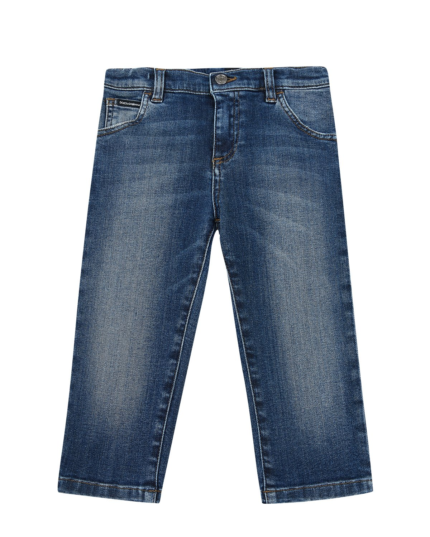 Regular fit джинсы с эффектом потертости Dolce&Gabbana детский фото