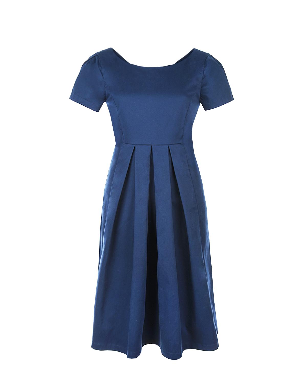 Синее платье из хлопка Dan Maralex фото