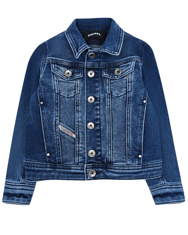 Купить со скидкой Джинсовая куртка с эффектом потертости Diesel детская