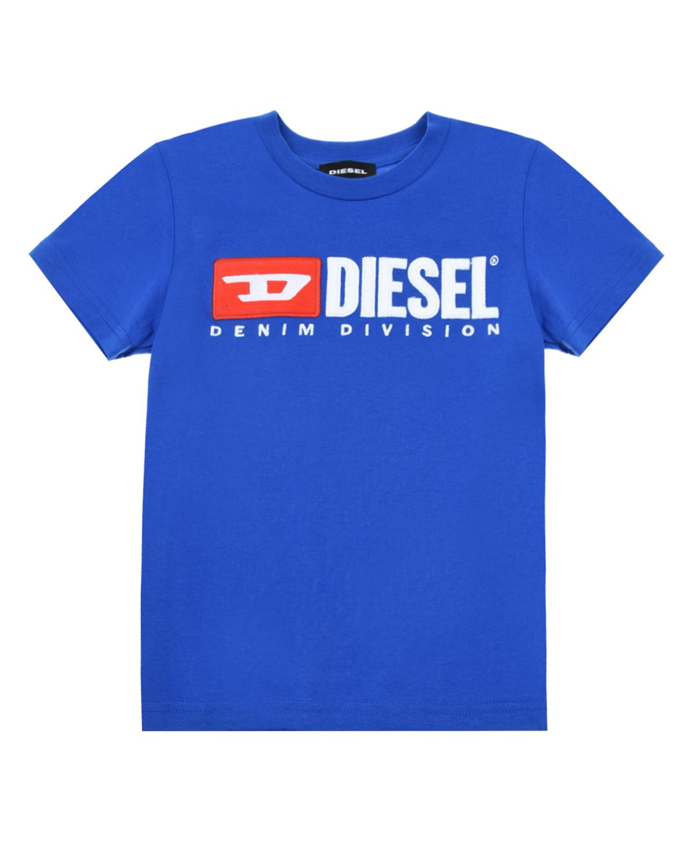 Футболка из хлопка Diesel детская фото