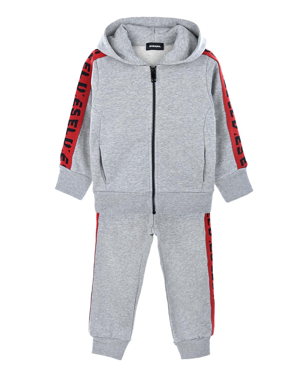 Купить Спортивный костюм из толстовки и брюк Diesel детский, Серый, 100%хлопок, 100%полиэстер
