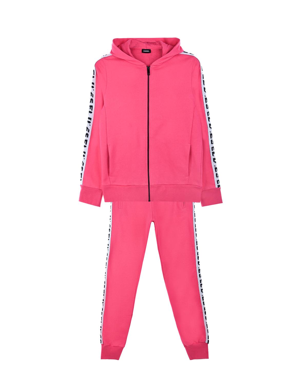 Купить Спортивный костюм из толстовки и брюк Diesel детский, Розовый, 100%хлопок, 100%полиэстер