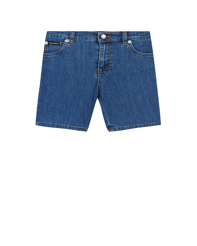 Купить Джинсовые шорты Dolce&Gabbana детские, Голубой, 72%хлопок+2%эластан+12%полиэстер+14%вискоза