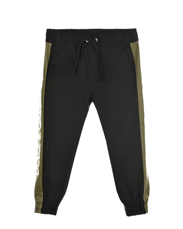 Купить Брюки Dolce&Gabbana детские, Черный, 97%хлопок+3%эластан