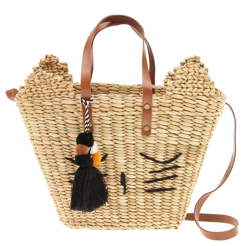 Соломенная сумка, 24x9x20/32 см Emile et Ida детская фото