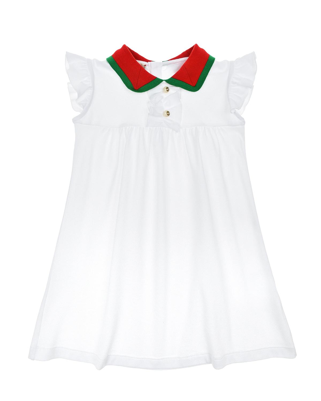 Купить Платье GUCCI детское, Белый, 96%хлопок+4%эластан, 100%хлопок