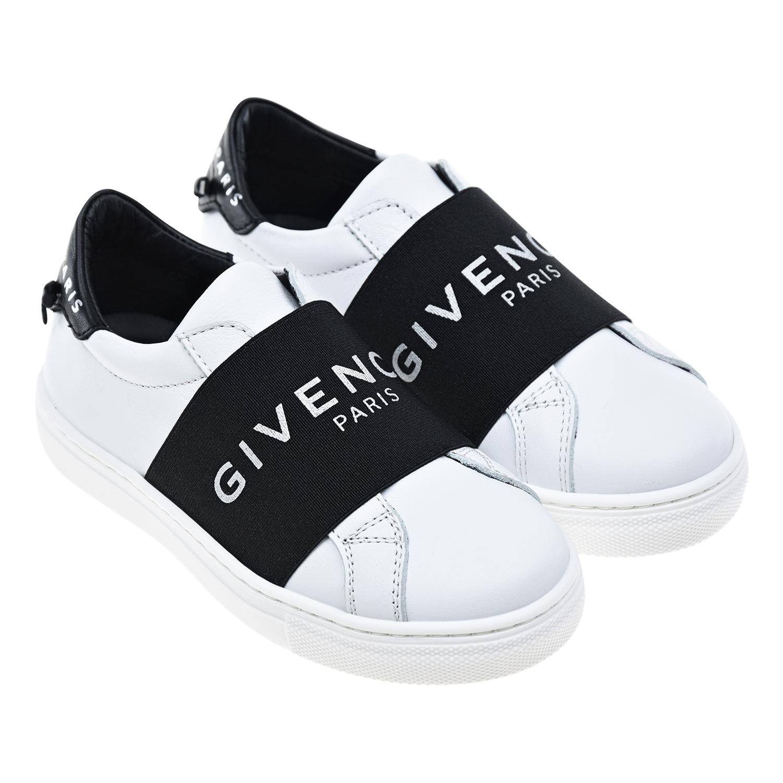 Кожаные кеды без шнуровки Givenchy детские
