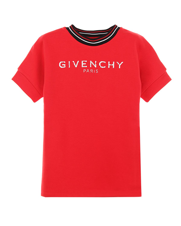 Платье с короткими рукавами Givenchy детское фото
