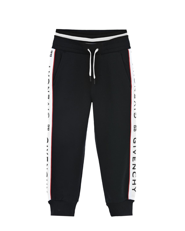 Купить Брюки спортивные Givenchy детские, Черный, 2%эластан+98%хлопок, 14%полиэстер+86%хлопок, 22%эластан+78%полиамид, 100%хлопок