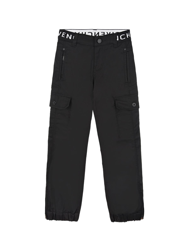 Купить Брюки Givenchy детские, Черный, 97%хлопок+3%эластан, 65%полиэстер+35%хлопок. 67%полиамид+21%эластан+12%полиэстер