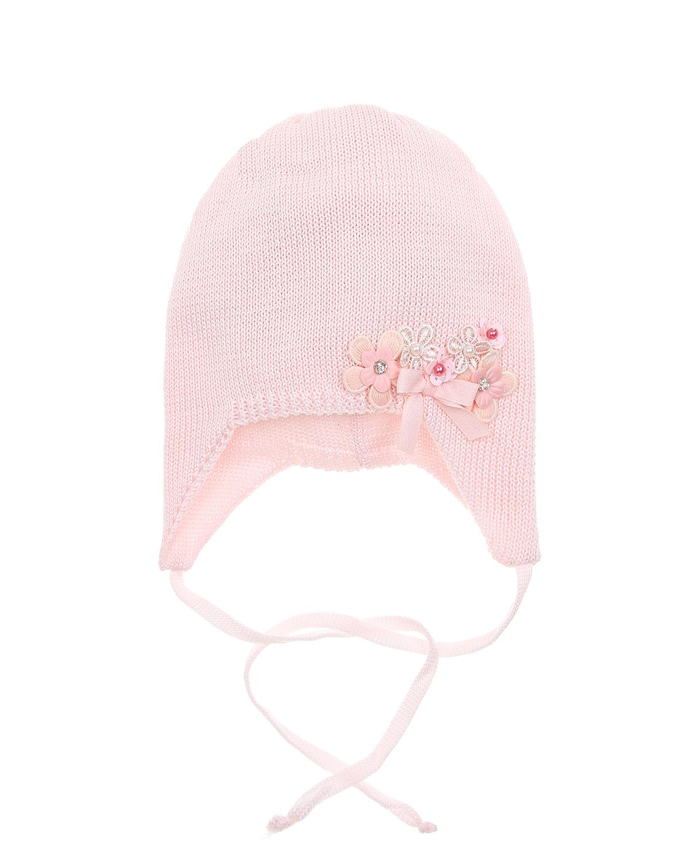 Купить Шапка Il Trenino детская, Розовый, 100%хлопок