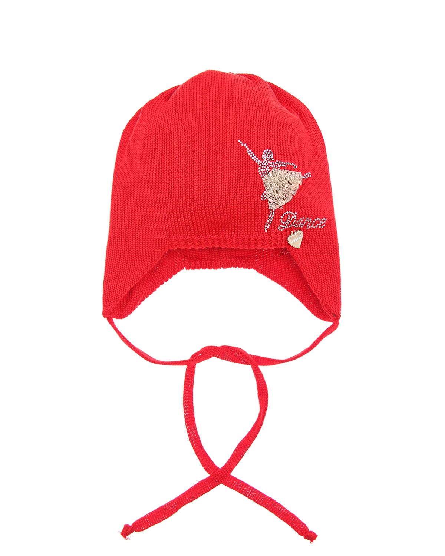 Купить Шапка Il Trenino детская, Красный, 100%хлопок