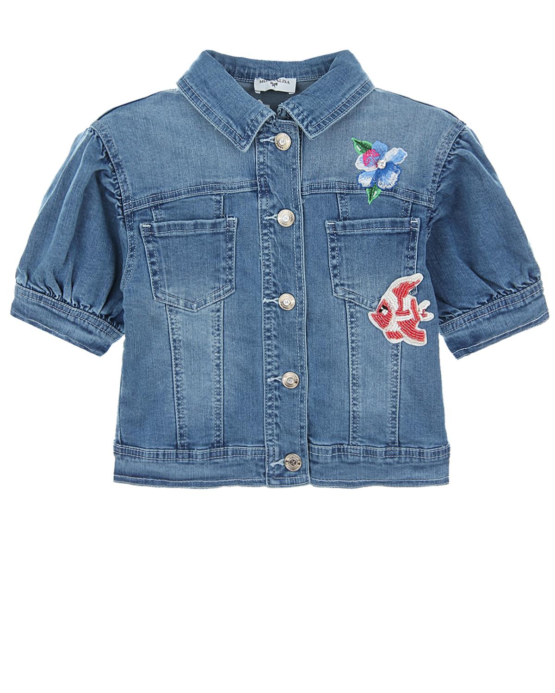 Купить Джинсовая куртка с короткими рукавами Monnalisa