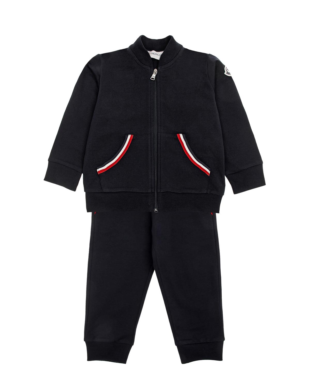 Спортивный костюм с декоративной отделкой Moncler детский фото