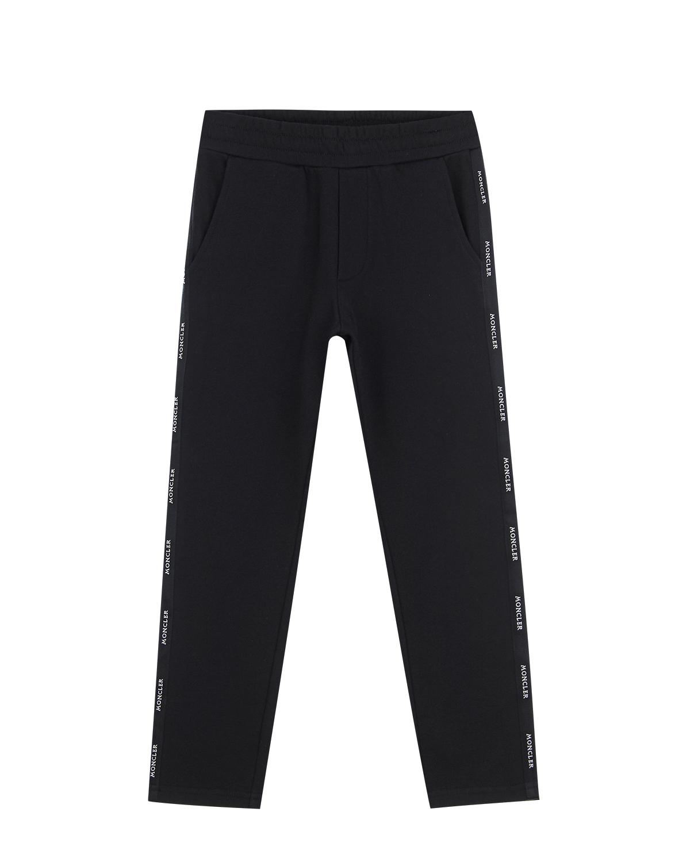 Купить Спортивные брюки из хлопка Moncler детские, Черный, 100%хлопок