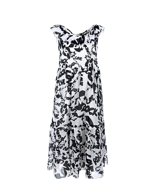 Платье из принтованного хлопка Monnalisa