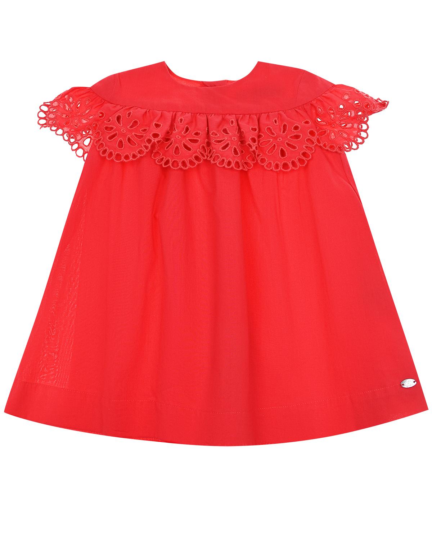 Купить Платье с кружевной оборкой Tartine et Chocolat детское, Красный, 100%хлопок
