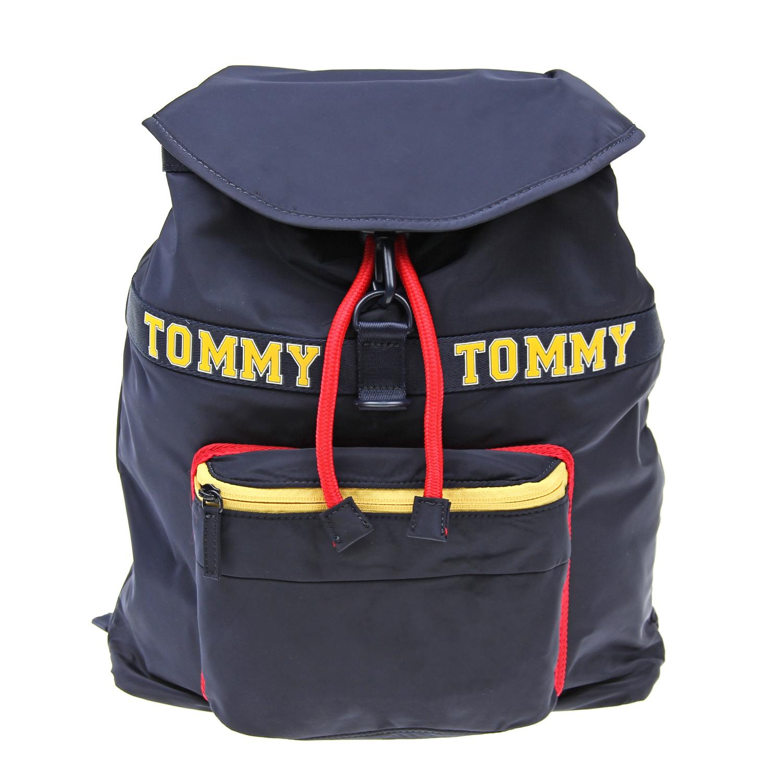 Купить Рюкзак с контрастной отделкой, 32х13, 5х30 см Tommy Hilfiger детский, Синий, 100%полиэстер
