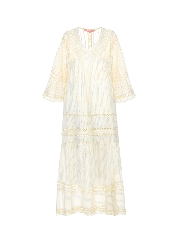 Платье-макси из хлопка Valerie Khalfon фото