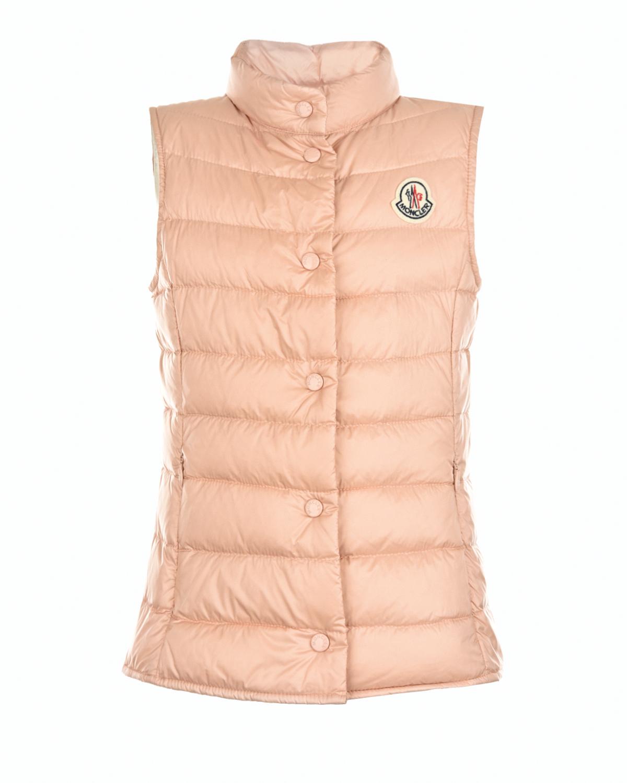 Купить Стеганый жилет Moncler детский, Розовый, 100%полиамид, 90%пух+10%перо