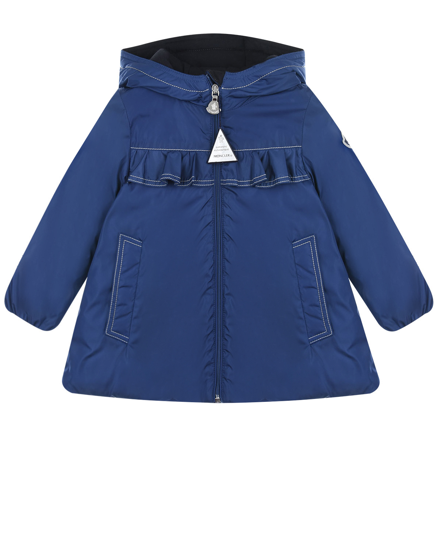 Купить Пуховое пальто Raraka Moncler детское, Синий, 100%полиамид, 100%хлопок, 90%пух+10%перо